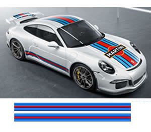 Porsche Martini Side decals